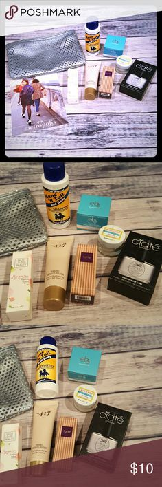 Ipsy cosmetic bag with samples This is for an Ipsy cosmetic bag along with a handful of samples.  All my stuff comes from a smoke free and pet free home.  I encourage you to bundle to save on shipping, so check out my closet for other deals! Ipsy Bags Cosmetic Bags & Cases