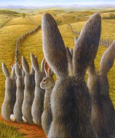 Robert Bissell - Contemporary fine art and prints Lapin Art, Somebunny Loves You, Year Of The Rabbit, Bunny Art, Bunny Bunny, Easter Bunny, March Hare, Rabbit Art, Funny Bunnies