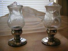 Vinatge Quaker Silver Co Salt and Pepper Shakers 701 Mason Jar Wine Glass, Hurricane Glass, Salt And Pepper, Good Things, Tableware, Check, Silver, Ebay, Salt N Pepper