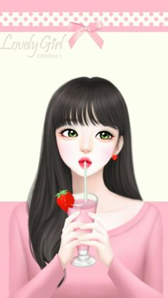 Image in Lovely Girl💋 collection by ChiangWaiFun Cartoon Girl Images, Cute Cartoon Girl, Anime Girl Cute, Anime Art Girl, Anime Girls, Cute Girl Wallpaper, Cute Wallpaper Backgrounds, Cute Wallpapers, Girl Face Drawing