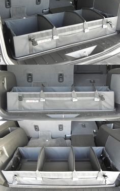 Accessories that are compatible with the Nissan Rogue includes this awesome storage unit for the rear of the car! This Rola Spring Loaded Trunk Organizer is great for organization and space efficiency - great for road trips and traveling.
