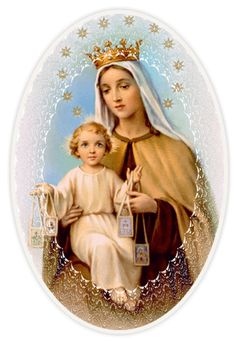 Blessed Mother Mary, Blessed Virgin Mary, Mont Carmel, Lady Of Mount Carmel, Images Of Mary, Jesus Face, Hail Mary, Corpus Christi, Santa Maria