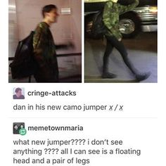 ALL JOKES ASIDE HOLY SNAILS HE LOOKS GOOD IN THAT THERE CAMOUFLAGE JUMPER