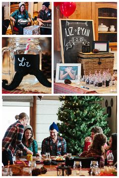 A NORTHWOODS LUMBERJACK & JILL COUPLES WEDDING SHOWER | by Beth Wright of Anchored Souls