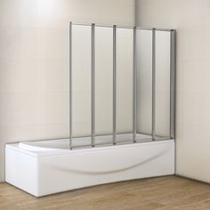 5 Folds Bathroom New Design Folding Bath Shower Screen Door Panel M12 | eBay