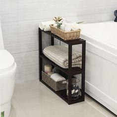 3-Tier Adjustable Bamboo Bathroom Shelf