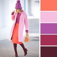 What is the fashion color trends of the year Colour Combinations Fashion, Color Combinations For Clothes, Fashion Colours, Colorful Fashion, Color Combos, Inspiration Mode, Color Inspiration, Estilo Glamour, Winter Mode
