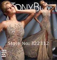Online Shop 2013 Elegant Champagne Satin Rhinestone Swarovski Crystal Fashion Gorgeous Shiny Floor Length Beautiful Prom Dress Evening Gown|Aliexpress Mobile