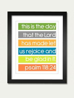 Bible Verse Print Psalm 118 by MissNibbit on Etsy, $5.00