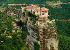 Meteora Monastery From Afar - Gallery Winter Destinations, Travel Destinations, Southern Europe, Mount Rushmore, The Good Place, Greece, Places To Visit, Tours, Mansions
