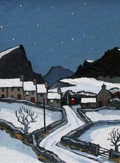 British Artist David BARNES-Starlit Night