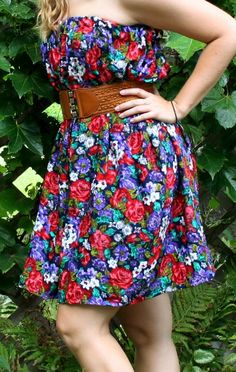 3 Stitch summer dress.  I could easily add straps to this.