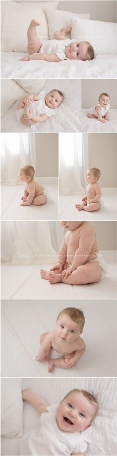 A nice variety of poses for a 6-month sitter session.