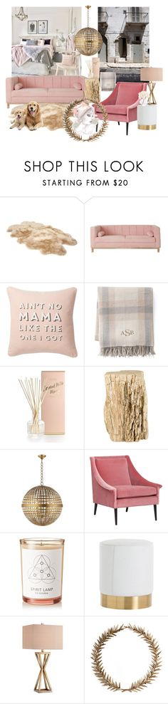 """""""FEMININE apartment"""" by mara-wink ❤ liked on Polyvore featuring interior, interiors, interior design, home, home decor, interior decorating, UGG, Nordstrom Rack, Lands' End and Illume"""