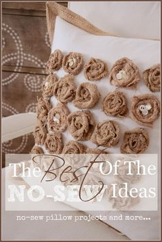 The Best of the Best: No Sew Ideas