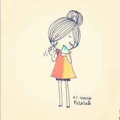 Byebye @Laesa  see u  #me #day  #girl #mood #emotion #emoji #character #cartoon #draw #paint #sketch by P@L@LEE, via Flickr