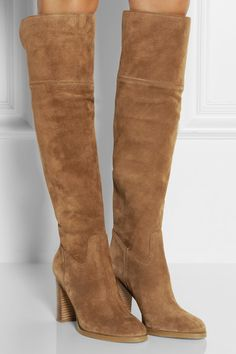 MICHAEL MICHAEL KORS Regina suede over-the-knee boots €325 http://www.net-a-porter.com/products/460133