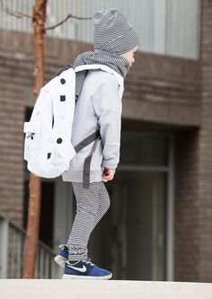 34d6102419c85 Cool School back pack. Shapes Kids  Back Pack comes in black or white with