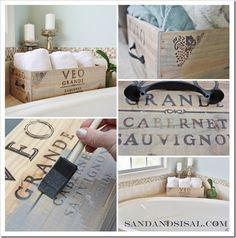Wine crate ideas
