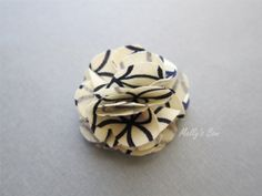 Navy Circle - Mens Lapel Flower Wedding Boutonniere Fabric Lapel by MellysBow