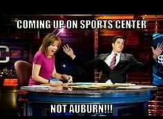 I'm all for AU winning... Unless they're playing us! But that's funny. RTR!! ❤️!
