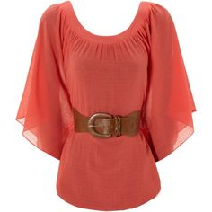 Belted Kimono Top - wish we could get Jane Norman here. Sparkly Outfits, Pretty Outfits, Casual Outfits, Cute Outfits, Boho Kimono, Kimono Top, Coral Shirt, Cotton Kimono, Bohemian Blouses