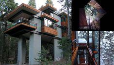 Treehouses, tree top architecture, tree house, tree architecture, Lukasz Kos, Ontario Treehouse, Joel Sherman, Streel tree house