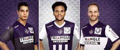 Toulouse FC French League Home and Away Jersey Shirt Kit 2014 2015 / Have a Fun Flag Wig ! French League, Football Fashion, Soccer Uniforms, Home And Away, Toulouse, Jersey Shirt, Kappa, Wig, Third