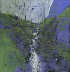Abstract+landscape+mountain+painting+by+Paul+Bailey:+Radnor