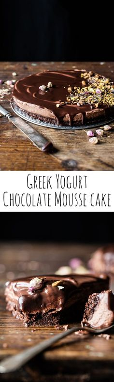 Chocolate Lovers Greek Yogurt Chocolate Mousse Cake | halfbakedharvest.com @hbharvest