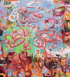 "Saatchi Online Artist: Galen Cheney; Mixed Media 2010 Painting ""Sky Street"""