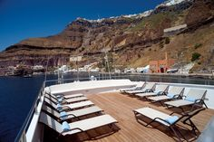 The sundeck aboard the Harmony G, the perfect place to sit back and relax