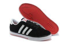 Adidas Se Daily Vulc Low Männer Schwarz Weiß Rot