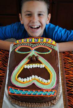 Tiki Party Cake
