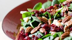 Christmas salad with balsamic vinaigrette - Christmas day Veggie Side Dishes, Side Dish Recipes, Wine Recipes, Mexican Food Recipes, Healthy Recipes, Ethnic Recipes, Cranberry Salad, Xmas Dinner, Comida Latina