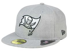 Tampa Bay Buccaneers New Era NFL Heather Black White 59FIFTY Cap at Lids.com. Look sharp with a hat that goes with everything!