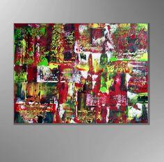 Acrylbilder abstrakt mit Sand Leinwand Unikat  von Kunstgalerie Winkler auf DaWanda.com