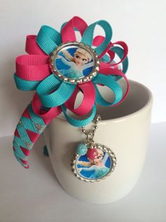 Frozen Headband and loopy flower hair bow Frozen Hair Bows, Frozen Headband, Disney Hair Bows, Headband Baby, Ribbon Headbands, How To Make Headbands, How To Make Bows, Hair Accessories Holder, Girls Hair Accessories