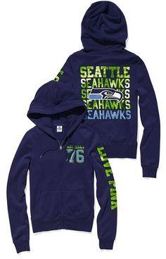 Victoria's Secret Pink® Seattle Seahawks Bling Zip Hoodie for Sale