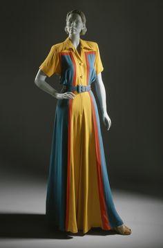 ~Woman's Hostess Pajamas Addie Masters (United States, California, active 1940) United States, California, 1940 Costumes; principal attire (e...~