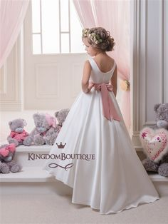Girls' Clothing (sizes 4 & Up) Girls Dresses Wedding Flower Lace Communion Party Prom Princess Pageant Event Driving A Roaring Trade