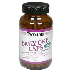 $18.55-$44.95 TwinLab Daily One Caps help promote healthy eyes, and provide extra folic acid for healthy heart. Iron (source) provides prolonged absorption. No added flavorings, sugars, salt, artificial sweeteners, colorings, preservatives or salicylates. (These statements have not been evaluated by the Food and Drug Administration. This product is not intended to diagnose, treat, cure or prevent ...