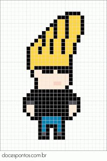 Johnny Bravo perler bead pattern