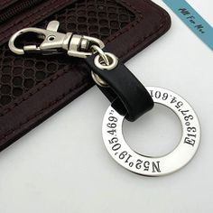 Personalized GPS Coordinate Keychain for men / Groomsmen Gift