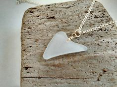 Frosted Genuine Naturally Heart Shaped Sea by MadeByTheBaySeaGlass