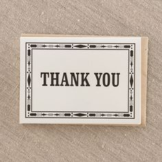 Thank you Native - Letterpress Greeting Card, By Pike Street Press - Seattle