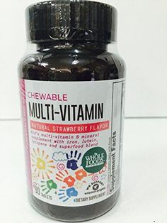 365 Everyday Value Kids Essentials Chewable Multi Vitamin- Natural Strawberry Flavored (90 Tablets)