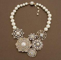 repurposed jewelry! Love it!