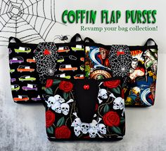 Sabbie's Coffin Flap Purses - new home page ad for Sabbie's Purses and More