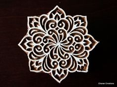 Hand Carved Indian Wood Block Stamp Floral by charancreations, $31.00